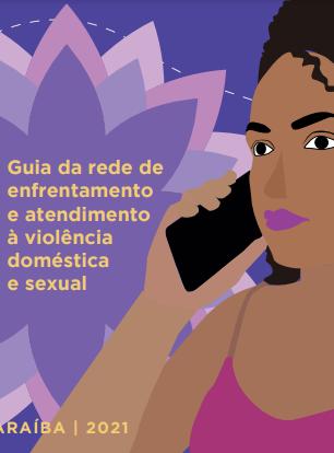 Capa do Guia da rede de enfrentamento e atendimento à violência doméstica e sexual