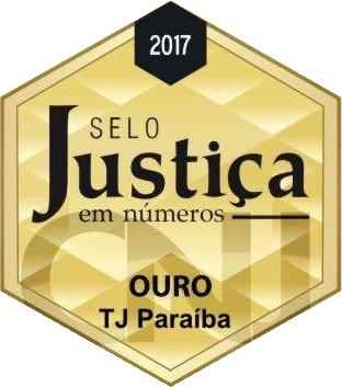 Selo Justiça em Números - Ouro - TJ Paraíba