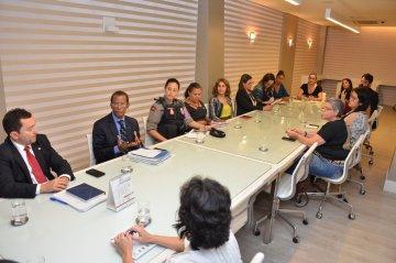 Membros da rede de proteção à mulher se reúnem para discutir 14ª Semana Justiça pela Paz em Casa / Fotos: Ednaldo Araújo