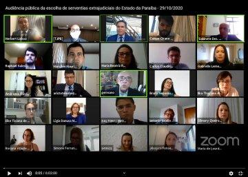 Com êxito, TJPB finaliza fase de escolha das serventias extrajudiciais pelos candidatos aprovados no concurso / Fotos prints: Ednaldo Araújo