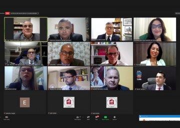 Oficiais de Justiça participam de webinário sobre estratégias de trabalho na pandemia / Fotos prints Ednaldo Araújo