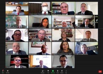 Foto da sessão virtual do pleno