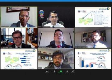 Comissão do Gabinete Virtual divulga indicadores de produtividade / Fotos Prints Ednaldo Araújo
