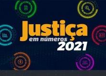 Logomarca do Justiça em números 2021