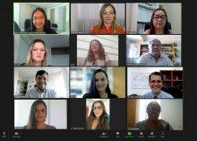 Captura de tela da reunião da Comissão de Destinacão de Imoveis Não Utilizados do TJPB
