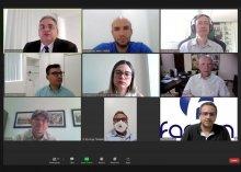 Captura de tela da reunião do Conselho Gestor do Farpen