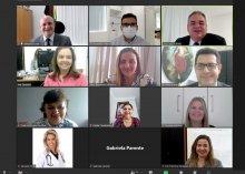 Captura da tela da reunião da CELA