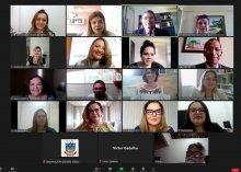 Captura de tela da reunião das Comissões de Prevenção e Enfrentamento do Assédio Moral, do Assédio Sexual e da Discriminação