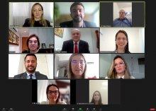 Foto de reunião virtual sobre medicamentos