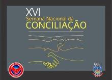 Arte sobre XVI Semana Nacional da Conciliação