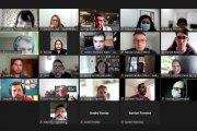 Foto de reunião virtual sobre o Painel PJ-e
